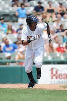 Trenton Thunder outfielder Mason Williams (9) during game against the Binghamton Mets at ARM & HAMMER Park on July 27, 2014 in Trenton, NJ.  Trenton defeated Binghamton 7-3.  (Tomasso DeRosa/Four Seam Images)