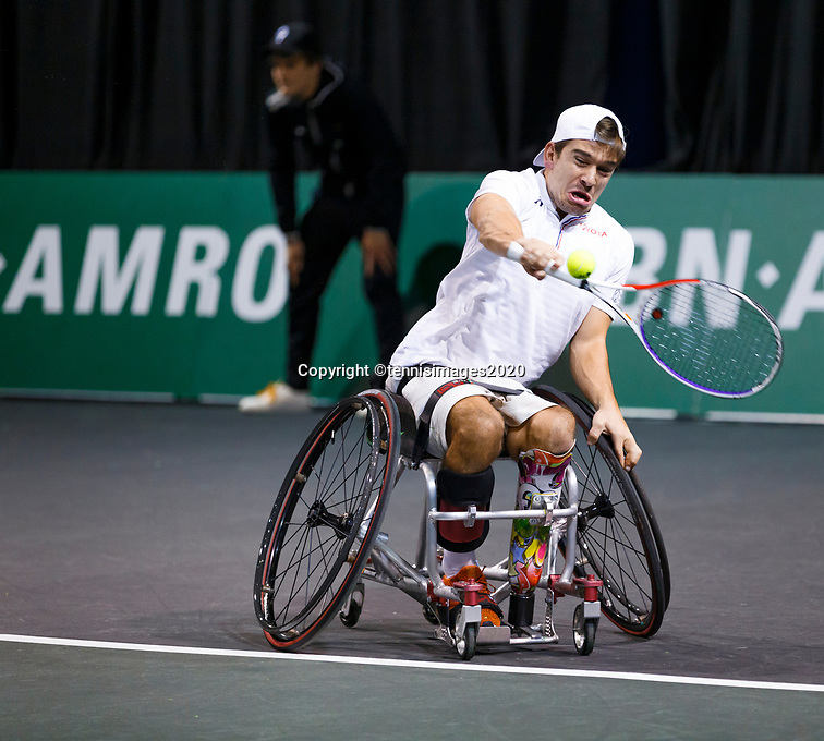 Rotterdam, The Netherlands, 12 Februari 2020, ABNAMRO World Tennis Tournament, Ahoy. Wheelchair: Martin De La Puente (ESP) .<br /> Photo: www.tennisimages.com