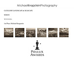 """A six-image series of images called """"The Badlands"""" by Michael Knapstein won First Place for Landscape & Seascape in the 16th Annual International Pollux Awards."""