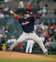 2007:  Mike Burns of the Pawtucket Red Sox, Class-AAA affiliate of the Boston Red Sox, during the International League baseball season.  Photo by Mike Janes/Four Seam Images