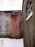 Padlocked door<br />