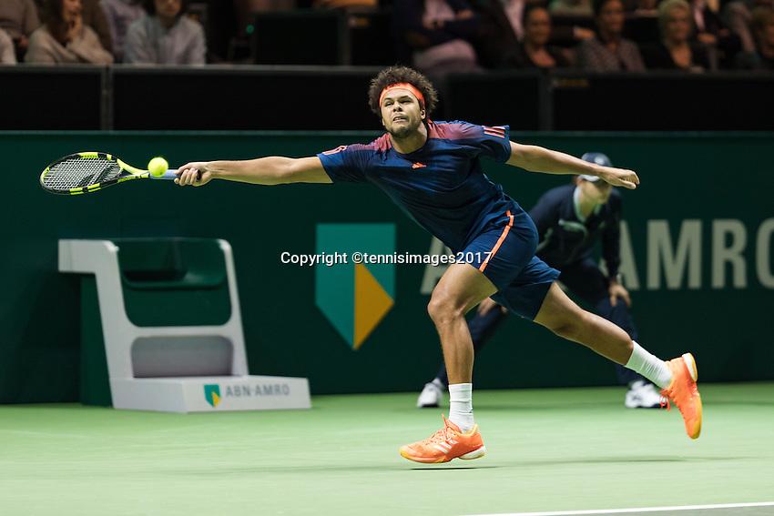 ABN AMRO World Tennis Tournament, Rotterdam, The Netherlands, 18 Februari, 2017, Jo-Wilfried Tsonga (FRA)<br /> Photo: Henk Koster