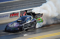 Apr. 14, 2012; Concord, NC, USA: NHRA funny car driver Bob Bode during qualifying for the Four Wide Nationals at zMax Dragway. Mandatory Credit: Mark J. Rebilas-