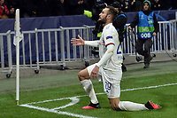 Lucas Tousart of Lyon celebrates after scoring the goal of 1-0 <br /> Lyon 26/02/2020 OL Stadium Decines <br /> Football Champions League 2019//2020 <br /> Round of 16 1st Leg <br /> Olympique Lionnais Lyon - Juventus <br /> Photo Fredric Chambert/Panoramic/Insidefoto