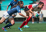 Argentina vs Mexico during the Day 2 of the IRB Women's Sevens Qualifier 2014 at the Skek Kip Mei Stadium on September 13, 2014 in Hong Kong, China. Photo by Aitor Alcalde / Power Sport Images