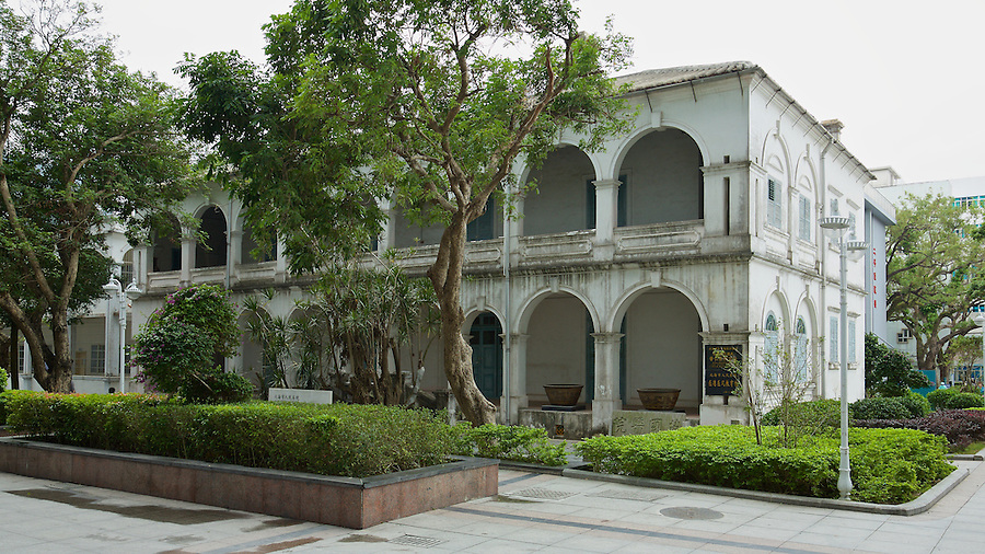 Doctors' residence (now a museum) in the first hospital to be built in Beihai (Pakhoi).  The building is now in the Po Yan Hospital Compound.