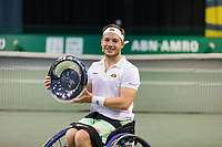 Rotterdam, The Netherlands,7 march  2021, ABNAMRO World Tennis Tournament, Ahoy,  <br /> Wheelchair final: Alfie Hewett (GBR) wins the final.<br /> Photo: www.tennisimages.com/