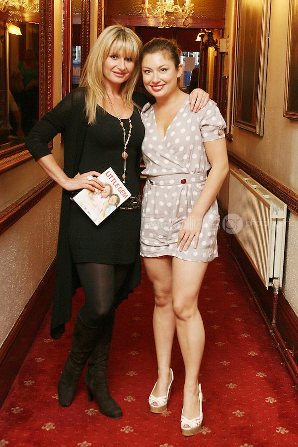 26/8/2010. NO REPRO FEE. Little Gem Opening night.  Tara Sinnott and Leigh Arnold are pictured at the Olympia Theatre Dublin for the opening night of Little Gem. Hilda Fay makes her return as Lorraine, Anita Reeves continues in the role of Kay, and Genevieve Hulme-Beaman takes on the role of Amber. After sell-out seasons in New York, London and Paris and a sold-out 7-week run at Ireland's National Theatre, Gúna Nua is bringing its bittersweet comedy Little Gem back to Dublin for 10 shows only at The Olympia Theatre from August 26 to September 4, 2010. Love, sex, birth, death, dildos and salsa classes: Elaine Murphy's award winning Little Gem sees three generations of Dublin women on a wild and constantly surprising journey. Picture James Horan/Collins Photos