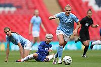 29th August 2020; Wembley Stadium, London, England; Community Shield Womens Final, Chelsea versus Manchester City; Georgia Stanway of Manchester City Women goes past Ji So-yun of Chelsea Women