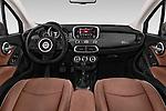 Stock photo of straight dashboard view of 2017 Fiat 500X Trekking 5 Door SUV Dashboard