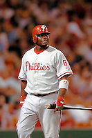 3 September 2005: Ryan Howard, first baseman for the Philadelphia Phillies, during a game against the Washington Nationals. The Nationals defeated the Phillies 5-4 at RFK Stadium in Washington, DC. <br />