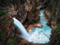 Stanely Falls, Beauty Creek, Jasper National Park, Aberta Canada