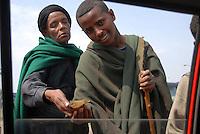 ethiopia, addis abeba, madre e figlio mendicanti. Mother and son beggars