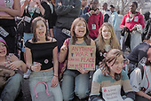 School students protest in Parliament Square over the invasion of Iraq.