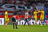 17th April 2021; Olmpico de La Cartuja stadium, Seville, Spain; Copa del Rey Football final, Athletic Bilbao versus FC Barcelona;  Yeray lvarez of Athletic Club disappointed after the game ends