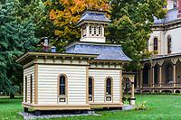 Playhouse at the Park-McCullough Mansion estate, Bennington, Vermont, USA.