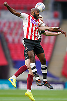 Nigel Atangana of Exeter City during the Sky Bet League 2 PLAY-OFF Final match between Exeter City and Northampton Town at Wembley Stadium, London, England on 29 June 2020. Photo by Andy Rowland.