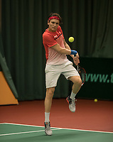 The Hague, The Netherlands, March 17, 2017,  De Rhijenhof, NOJK 14/18 years, Wisse Jonker (NED)<br /> Photo: Tennisimages/Henk Koster