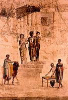 Roman Art:  Fresco--Giasone si presenta a suo zio Petia ed alle sue figlie.  National Museum, Naples.