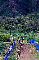 Bike race at Kualoa Ranch, northeast side of Oahu