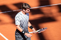 23rd April 2021; Real Club de Tennis, Barcelona, Catalonia, Spain; ATP Tour, Mens Singles, Barcelona Open Tennis;  Banc Sabadell Trofeo Conde de Godó; Cameron Norrie during his 6-1 and 6-4 loss to Rafael Nadal