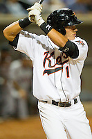 Carolina League All-Star Jeremy Nowak #11 of the Frederick Keys at bat against the California League All-Stars during the 2012 California-Carolina League All-Star Game at BB&T Ballpark on June 19, 2012 in Winston-Salem, North Carolina.  The Carolina League defeated the California League 9-1.  (Brian Westerholt/Four Seam Images)