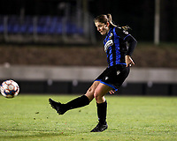 Raquel Viaene (5) of Club Brugge gives a pass during a female soccer game between FC Femina White Star Woluwe and Club Brugge YLA on the eleventh matchday of the 2020 - 2021 season of Belgian Scooore Womens Super League , Friday 22 January 2021  in Woluwe , Belgium . PHOTO SPORTPIX.BE   SPP   SEVIL OKTEM