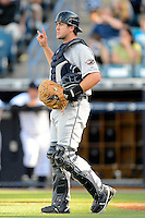 Lakeland Flying Tigers catcher Zach Maggard #36 during a game against the Tampa Yankees at Steinbrenner Field on April 6, 2013 in Tampa, Florida.  Lakeland defeated Tampa 8-3.  (Mike Janes/Four Seam Images)