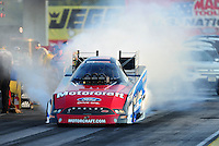 Sept. 2, 2011; Claremont, IN, USA: NHRA funny car driver Bob Tasca III during qualifying for the US Nationals at Lucas Oil Raceway. Mandatory Credit: Mark J. Rebilas-