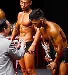 Winners in the Student Athletic Physique category during the 2016 Hong Kong Bodybuilding Championships on 12 June 2016 at Queen Elizabeth Stadium, Hong Kong, China. Photo by Lucas Schifres / Power Sport Images