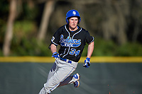Indiana State Sycamores pinch hitter Chris Ayers (34) during a game against the Boston College Eagles on February 27, 2016 at North Charlotte Regional Park in Port Charlotte, Florida.  Boston College defeated Indiana State 5-3.  (Mike Janes/Four Seam Images)