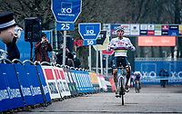 CX world champion Mathieu Van der Poel (NED/Alpecin-Fenix) wins immediatly upon his return in cyclocross for the 2020/2021 season (after taking a break when his road season finished)<br /> <br /> 2020 Scheldecross Antwerp (BEL)<br /> <br /> ©kramon