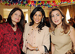 From left: Nieves Lawrence, Beatriz Ballerini and Pilar De la Garza at the Museam Lunche at the River Oaks Country Club Wednesday Feb. 03,2010. (Dave Rossman Photo)