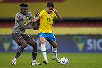 4th June 2021; Beira-Rio Stadium, Porto Alegre, Brazil; World Cup 2022 qualifiers; Brazil versus Ecuador; Lucas Paquetá of Brazil and Jordy Caicedo of Ecuador