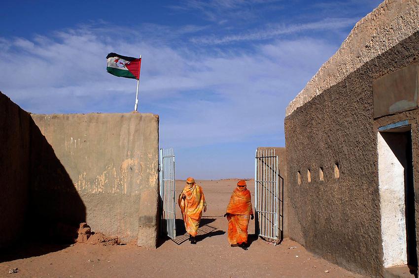 """Saharar errefuxiatu gunea - """"Ausserd"""" wilaya (Aljeria) - ..Argazkia: Ander Gillenea"""