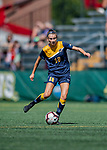 1 September 2019: Merrimack College Warrior Midfielder Hallie Shiers, a Freshman from Gorham, Maine, in action against the University of Vermont Catamounts in Game 3 of the TD Bank Women's Soccer Classic at Virtue Field in Burlington, Vermont. The Lady Warriors rallied in the second half to defeat the Catamounts 2-1. Mandatory Credit: Ed Wolfstein Photo *** RAW (NEF) Image File Available ***