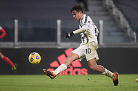 Paulo Dybala of Juventus FC scores the goal of 4-0 during the Serie A football match between Juventus FC and Udinese Calcio at Juventus stadium in Torino  (Italy), January, 3rd 2021.  Photo Federico Tardito / Insidefoto