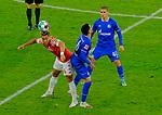 Fussball-Bundesliga - Saison 2020/2021<br /> Opel-Arena Mainz - 7.11.2020<br /> 1. FSV Mainz 05 (mz) - Schalke 04 (s04) 2:2<br /> v.li:Pierre KUNDE MALONG (1. FSV Mainz 05), Omar MASCARELL (FC Schalke 04), Can BOZDOGAN (s04)<br /> <br /> Foto © PIX-Sportfotos *** Foto ist honorarpflichtig! *** Auf Anfrage in hoeherer Qualitaet/Aufloesung. Belegexemplar erbeten. Veroeffentlichung ausschliesslich fuer journalistisch-publizistische Zwecke. For editorial use only. DFL regulations prohibit any use of photographs as image sequences and/or quasi-video.