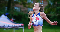5th June 2021; Birmingham University Athletics Track, Birmingham, Midlands, England; European 10000 Metre Finals, British Olympic Trials 10000 Metre; Eilish McColgan finish line relief