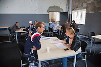 12-09-12, Netherlands, Amsterdam, Tennis, Daviscup Netherlands-Swiss, Press-conference Netherlands, Thiemo de Bakker
