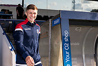 Bolton Wanderers' Adam Senior goes out to inspect the pitch before the match<br /> <br /> Photographer Andrew Kearns/CameraSport<br /> <br /> The Carabao Cup First Round - Rochdale v Bolton Wanderers - Tuesday 13th August 2019 - Spotland Stadium - Rochdale<br />  <br /> World Copyright © 2019 CameraSport. All rights reserved. 43 Linden Ave. Countesthorpe. Leicester. England. LE8 5PG - Tel: +44 (0) 116 277 4147 - admin@camerasport.com - www.camerasport.com