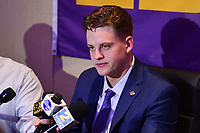New York, NY - December 14, 2019: Heisman Trophy finalist LSU Quarterback Joe Burrow participates in a media availability at the New York Marriott Marquis before the announcement of the 2019 Heisman Trophy Award December 14, 2019.  (Photo by Don Baxter/Media Images International)
