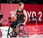 Colin Higgins, Tokyo 2020 - Wheelchair Basketball // Basketball en fauteuil roulant.<br /> Canada takes on Japan in a men's preliminary game // Le Canada affronte le Japon dans un match préliminaire masculin. 28/08/2021.