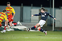 11/01/2011   Copyright  Pic : James Stewart.sct_jsp001_falkirk_v_partick_th   .:: MARK MILLAR SCORES FALKIRK'S FIRST  ::.James Stewart Photography 19 Carronlea Drive, Falkirk. FK2 8DN      Vat Reg No. 607 6932 25.Telephone      : +44 (0)1324 570291 .Mobile              : +44 (0)7721 416997.E-mail  :  jim@jspa.co.uk.If you require further information then contact Jim Stewart on any of the numbers above........