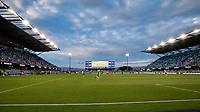 SAN JOSE, CA - AUGUST 13: PayPal Park during a game between San Jose Earthquakes and Vancouver Whitecaps at PayPal Park on August 13, 2021 in San Jose, California.