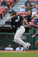 Syracuse Chiefs outfielder Destin Hood (7) at bat during a game against the Buffalo Bisons on July 23, 2014 at Coca-Cola Field in Buffalo, New  York.  Syracuse defeated Buffalo 5-0.  (Mike Janes/Four Seam Images)