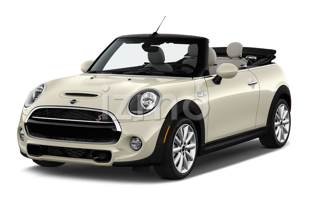 2019 Mini Cooper S Signature 2 Door Convertible angular front stock photos of front three quarter view