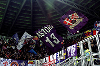 Fiorentina fans cheer on before the Serie A 2018/2019 football match between Frosinone and ACF Fiorentina at stadio Benito Stirpe, Frosinone, November 09, 2018 <br />  Foto Andrea Staccioli / Insidefoto