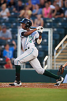 Daytona Tortugas shortstop Carlton Daal (4) at bat during a game against the Fort Myers Miracle on June 17, 2015 at Hammond Stadium in Fort Myers, Florida.  Fort Myers defeated Daytona 9-5.  (Mike Janes/Four Seam Images)