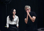 """Lena Hall and Jay Scheib during Jim Steinman's """"Bat Out of Hell - The Musical"""" - Open Rehearsal at New York City Center on July 30, 2019 in New York City."""